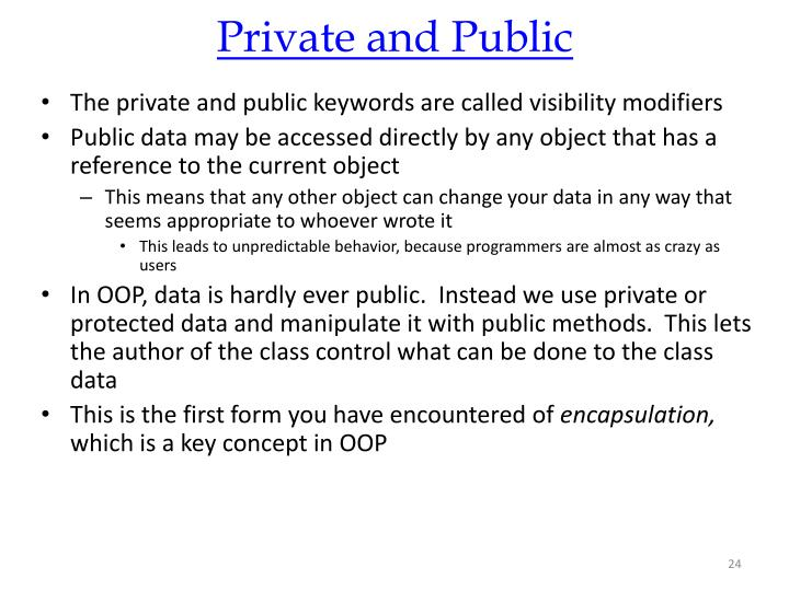 Private and Public