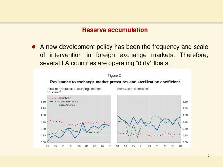 Reserve accumulation