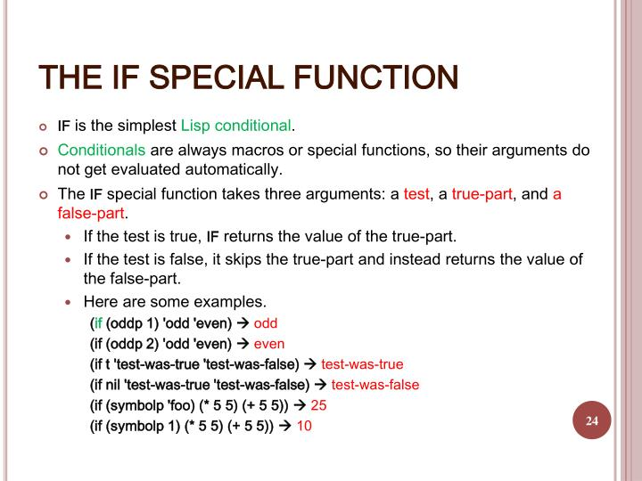 THE IF SPECIAL FUNCTION