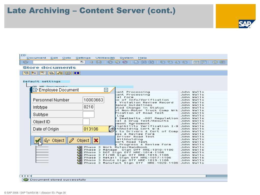 SAP archivelink tcodes ( Transaction Codes )