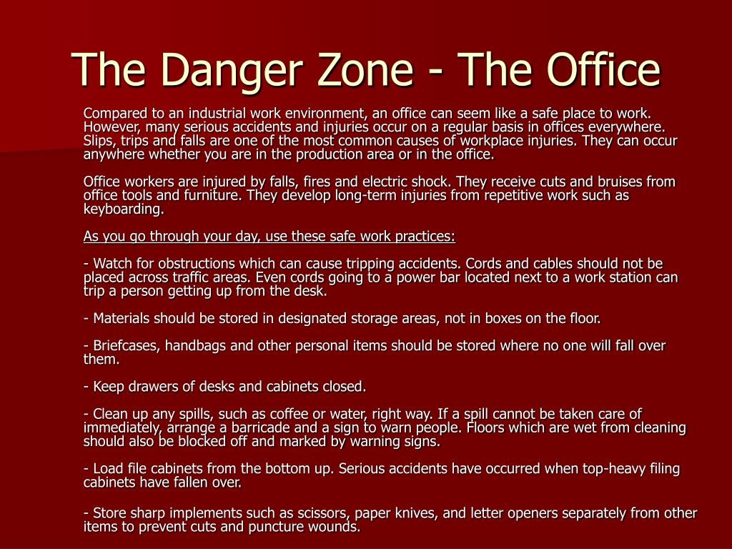The Danger Zone - The Office