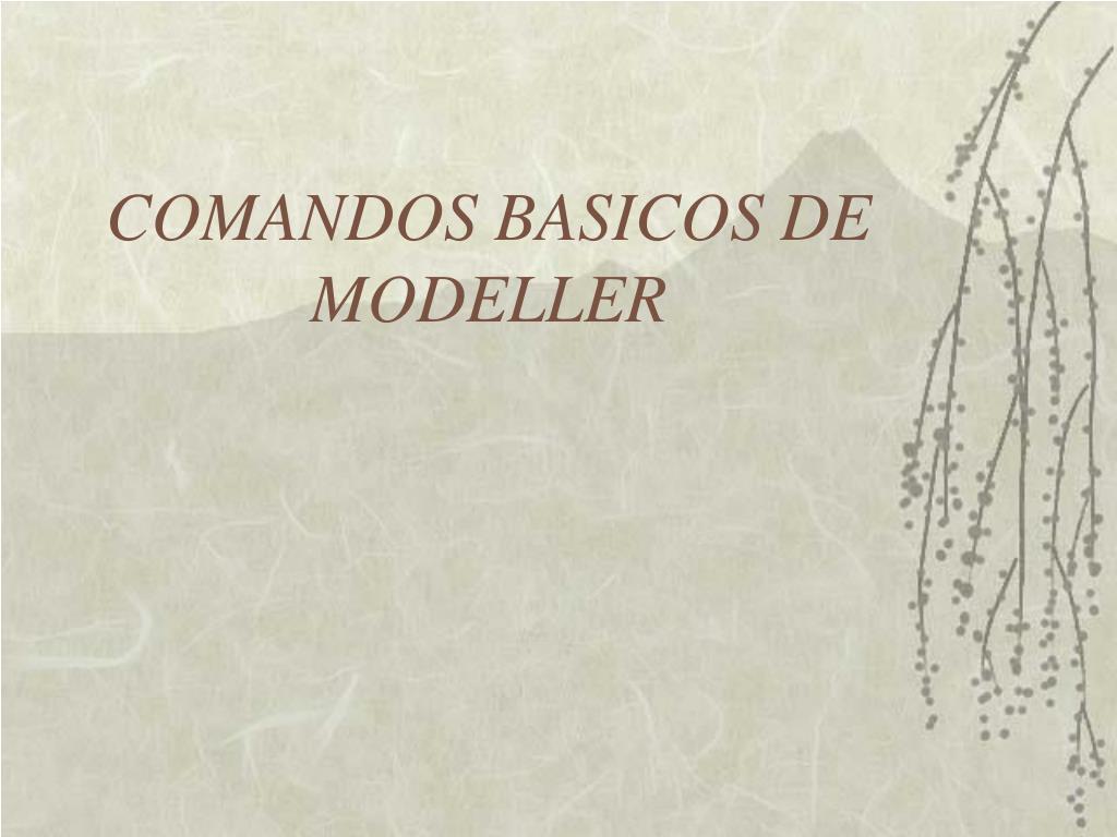 COMANDOS BASICOS DE MODELLER