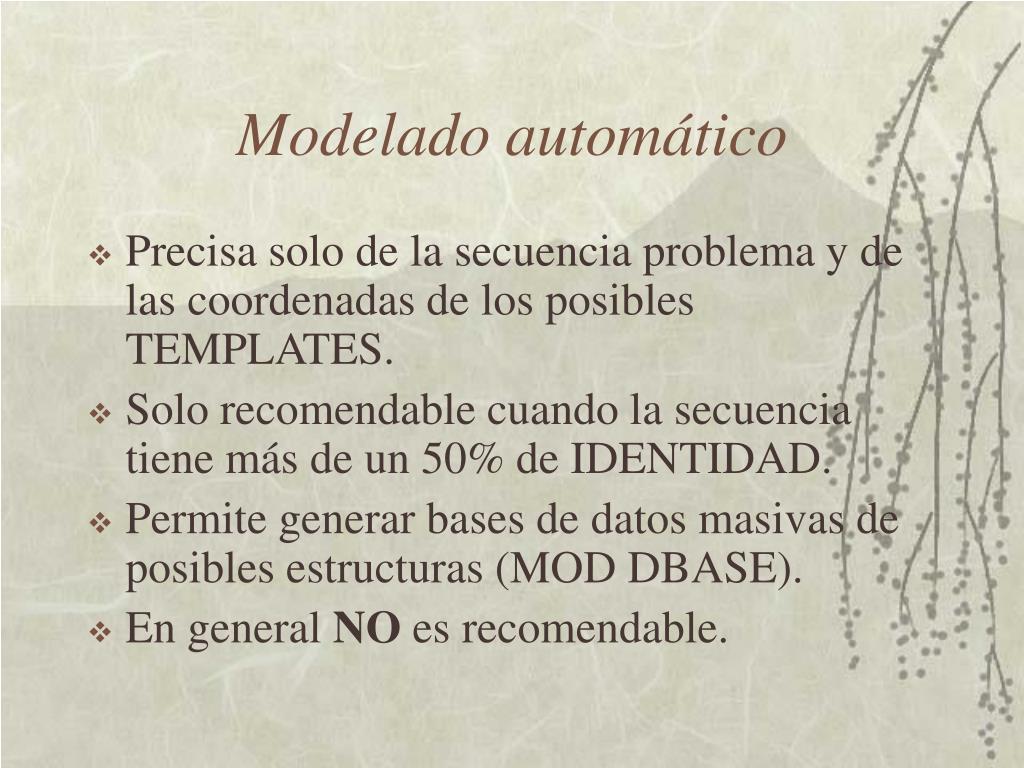 Modelado automático