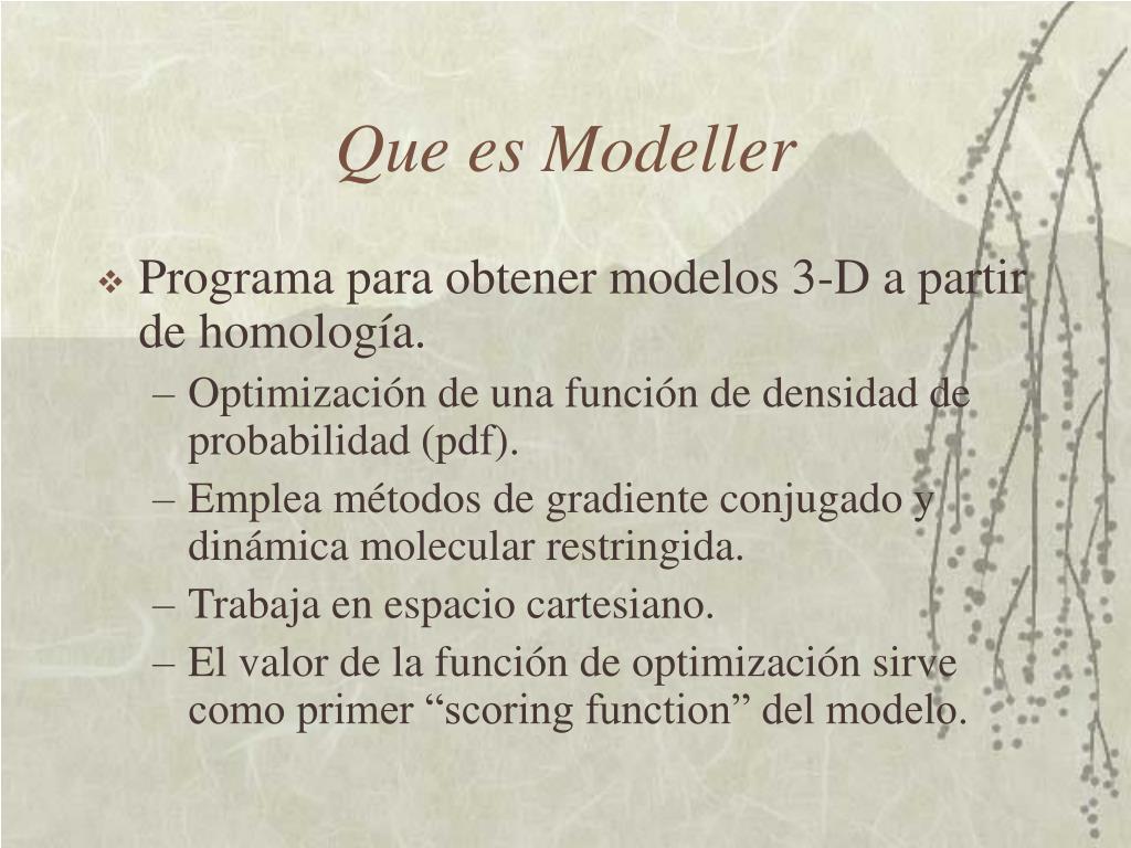 Que es Modeller