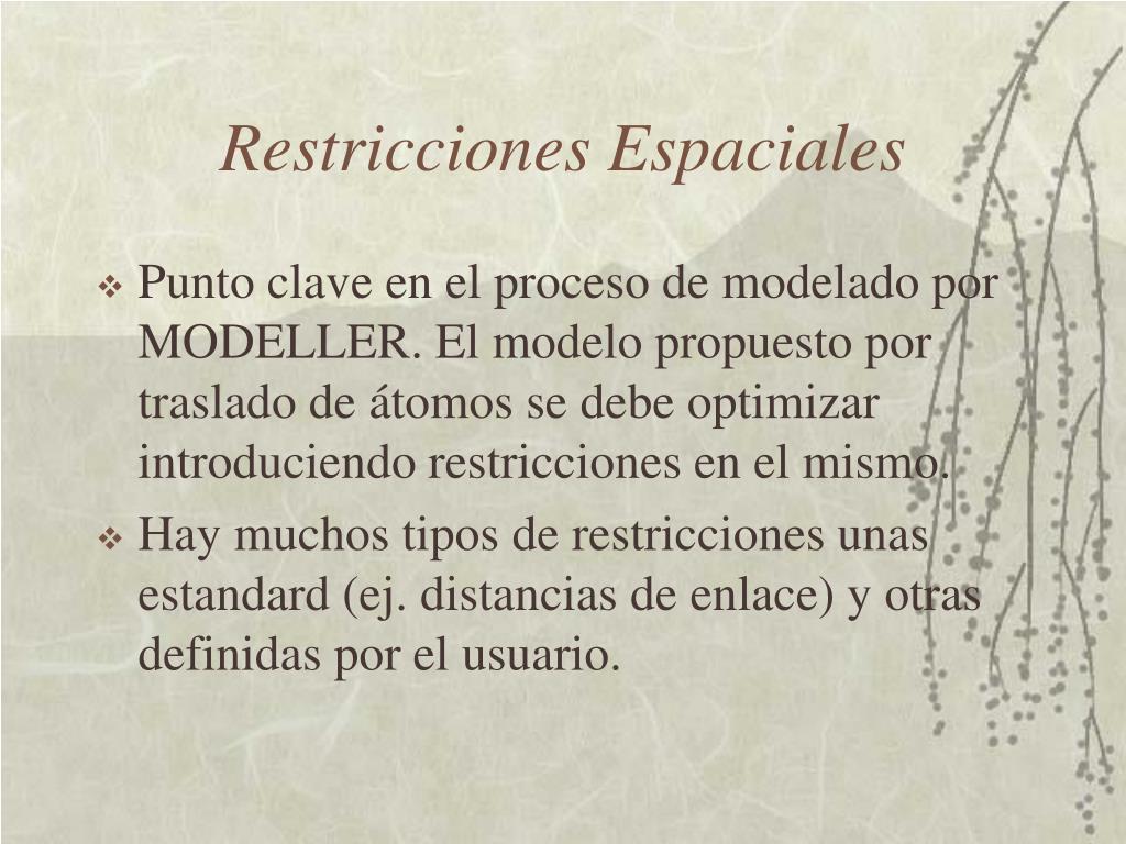 Restricciones Espaciales