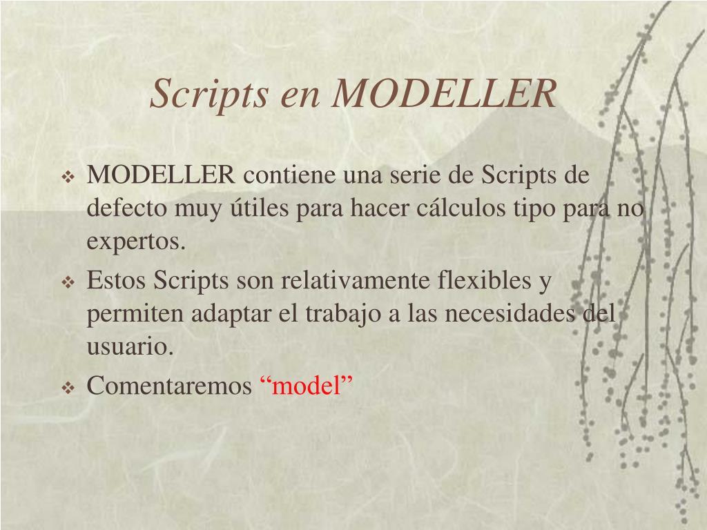 Scripts en MODELLER