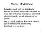 model modelleme