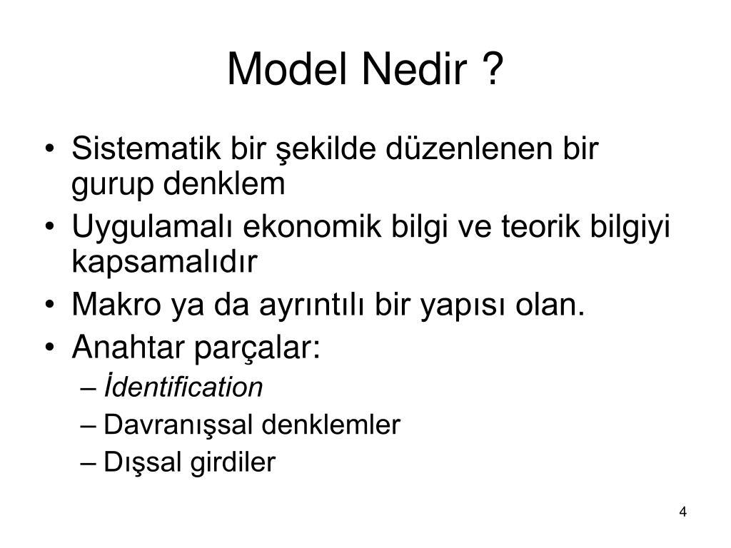 Model Nedir ?