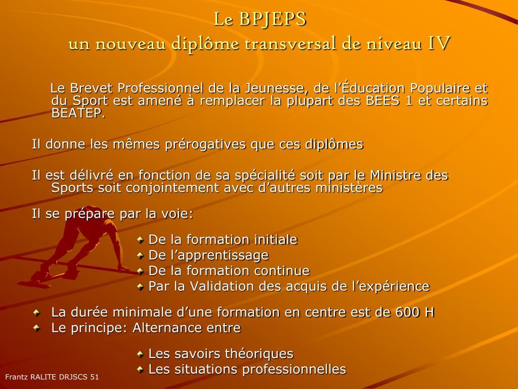 Le BPJEPS