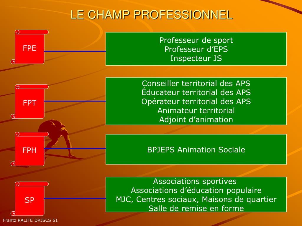 LE CHAMP PROFESSIONNEL