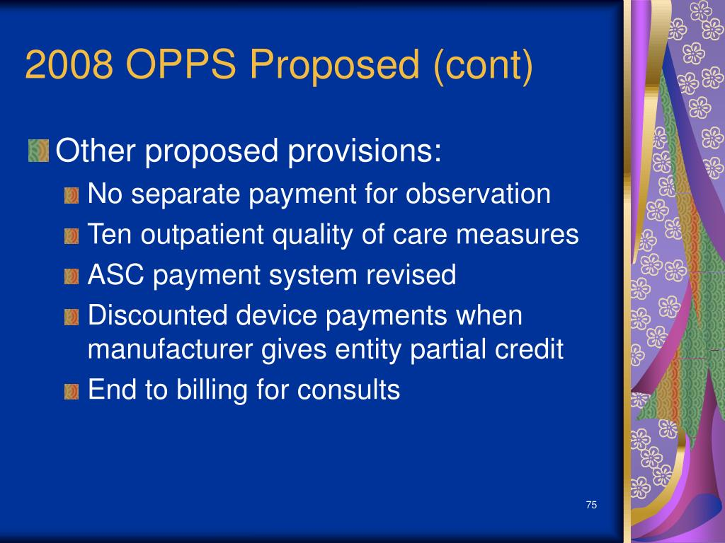 2008 OPPS Proposed (cont)