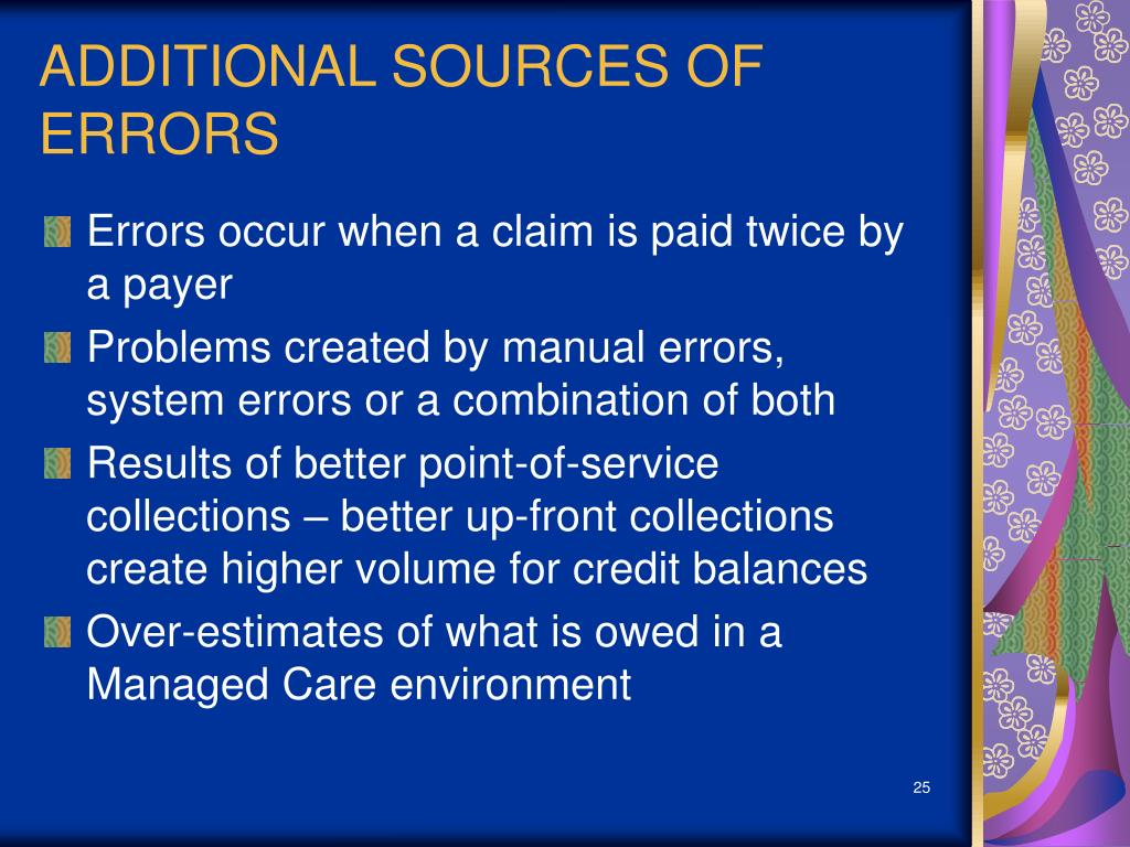 ADDITIONAL SOURCES OF ERRORS