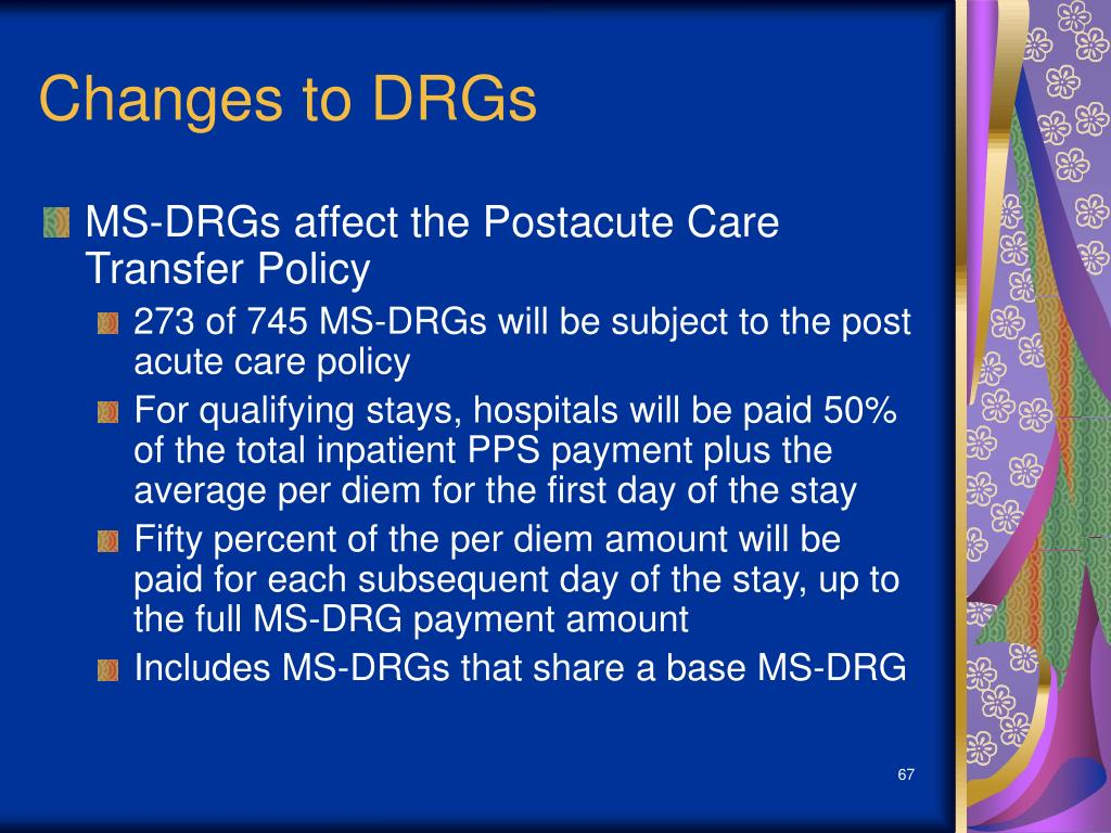 Changes to DRGs