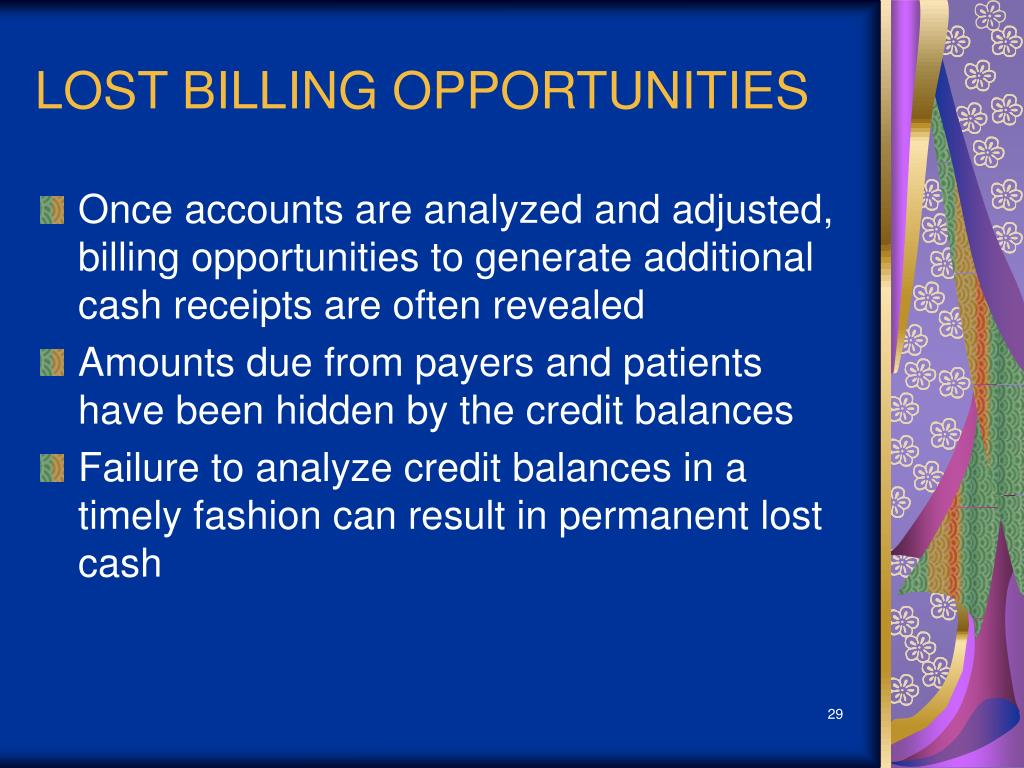 LOST BILLING OPPORTUNITIES
