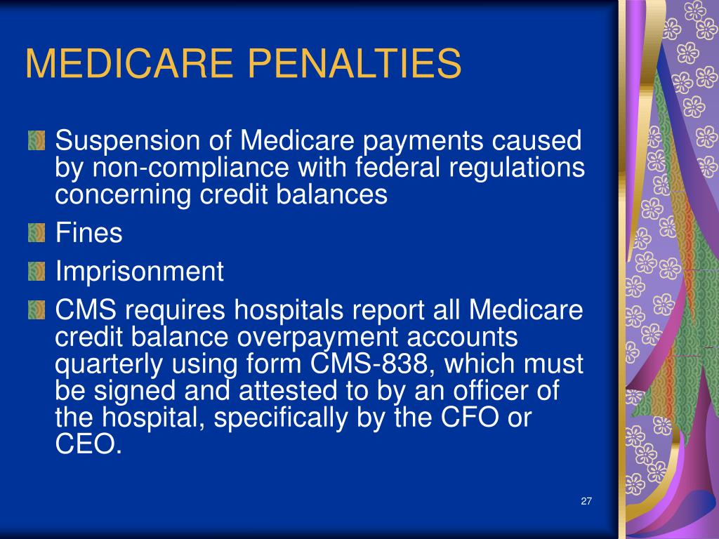 MEDICARE PENALTIES