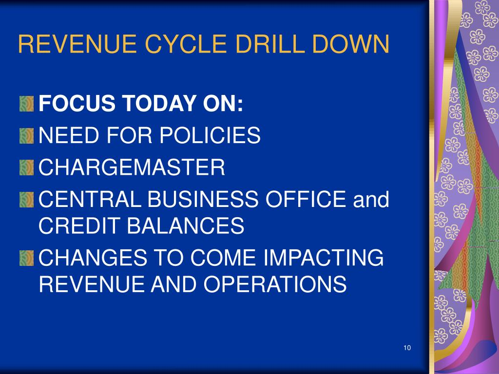 REVENUE CYCLE DRILL DOWN