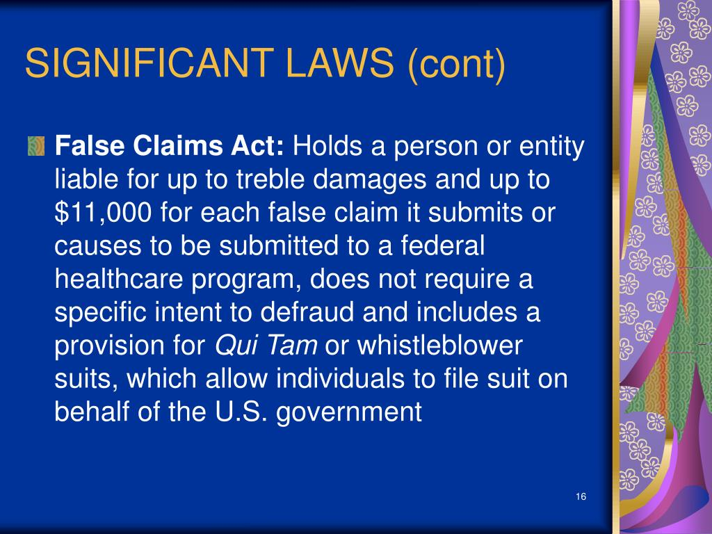 SIGNIFICANT LAWS (cont)