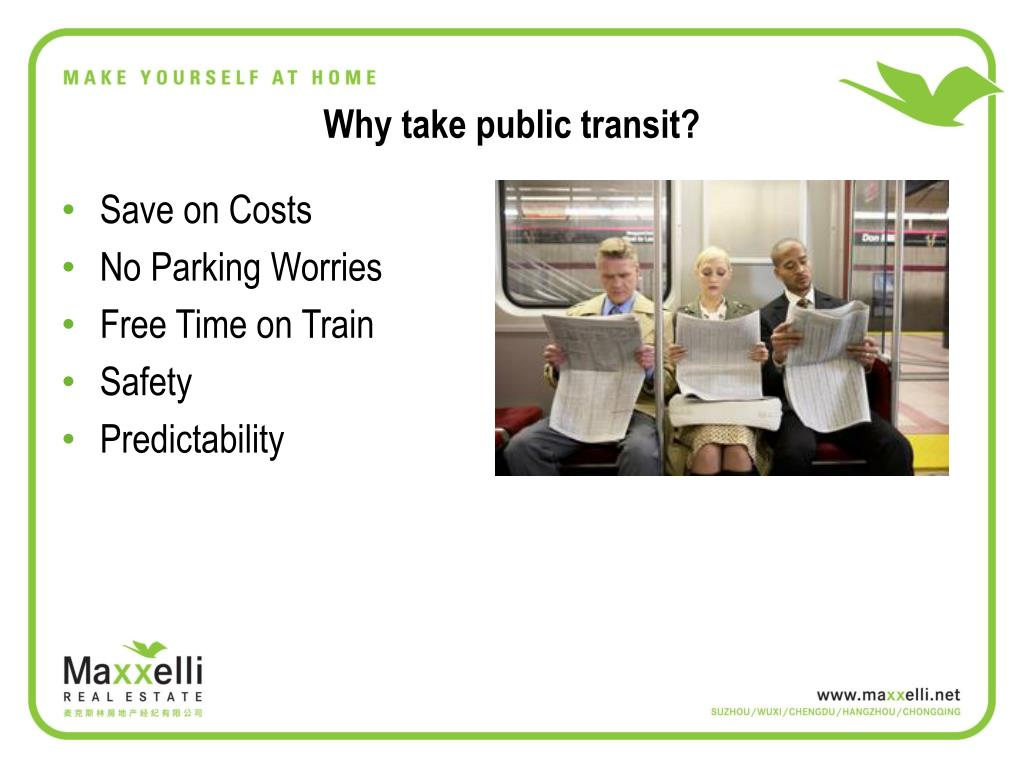 Why take public transit?