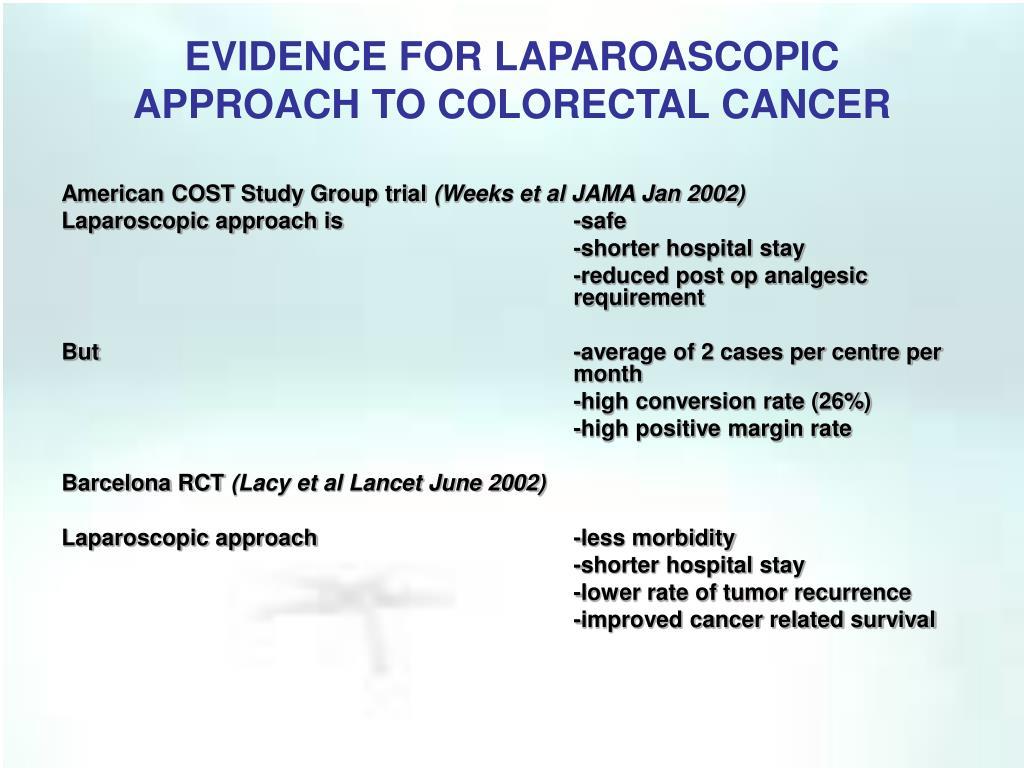 EVIDENCE FOR LAPAROASCOPIC