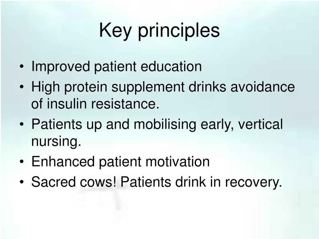 Key principles