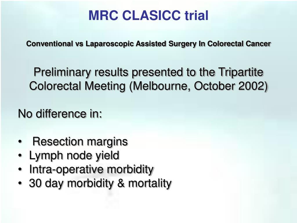 MRC CLASICC trial
