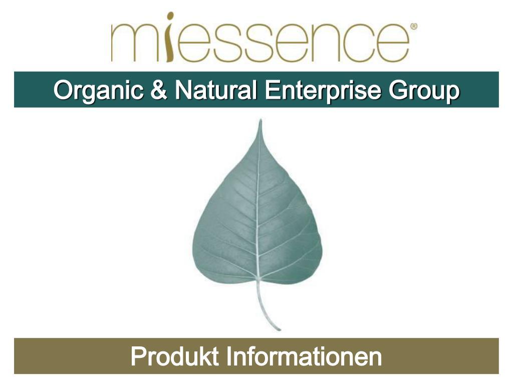 Organic & Natural Enterprise Group