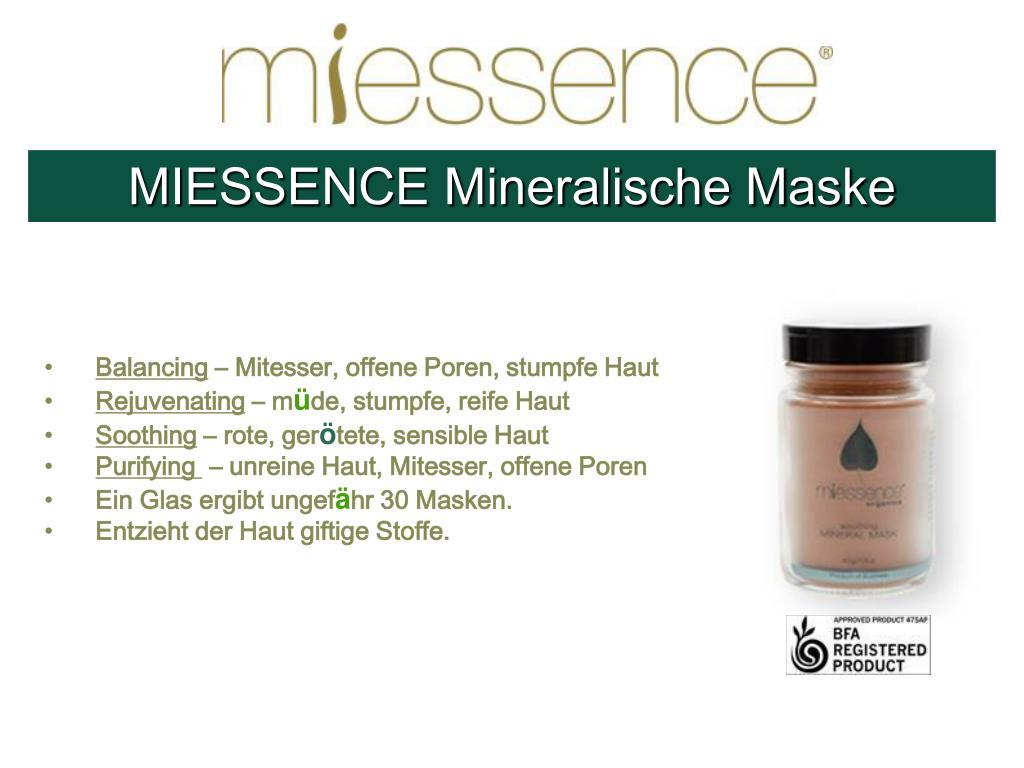 MIESSENCE Mineralische Maske
