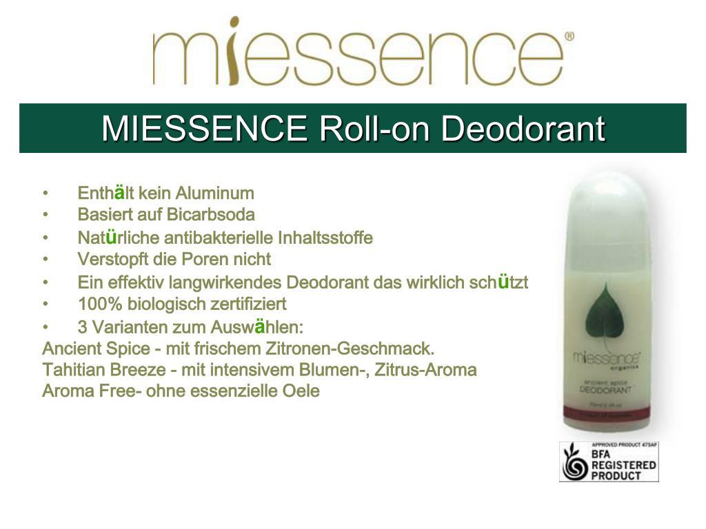 MIESSENCE Roll-on Deodorant