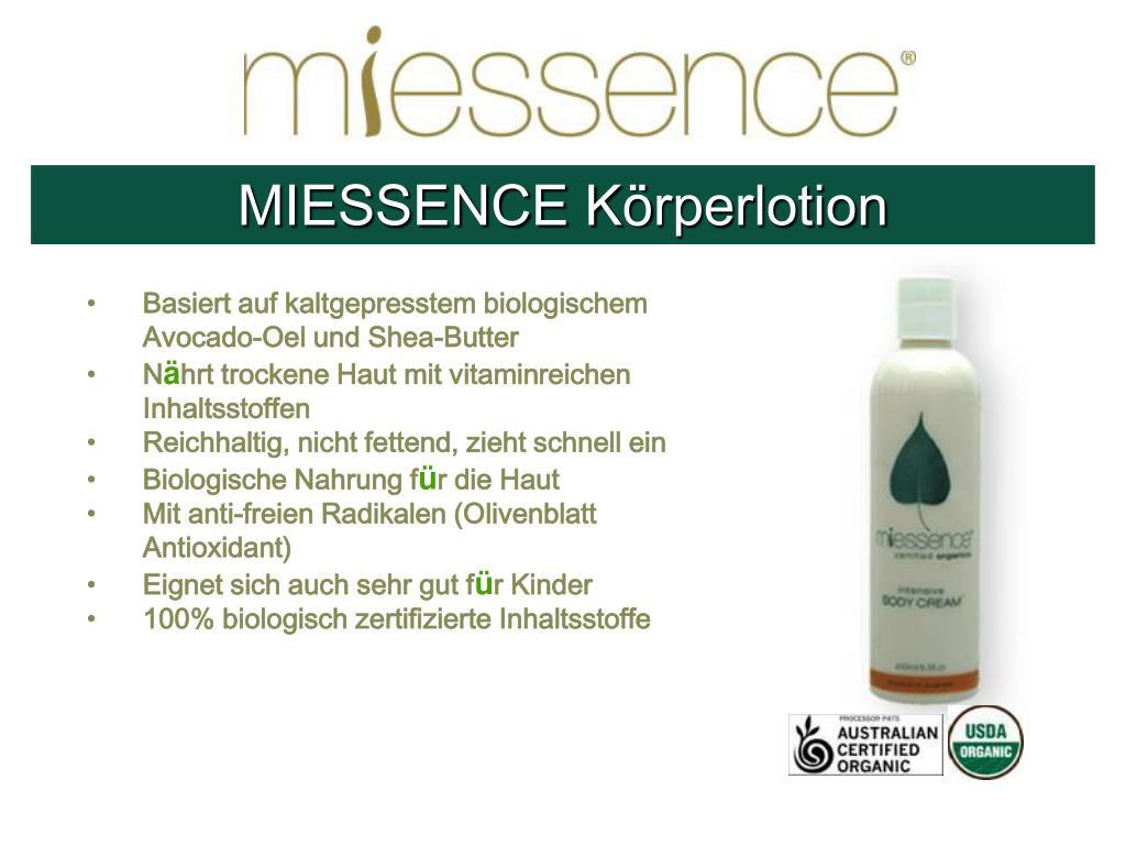 MIESSENCE K