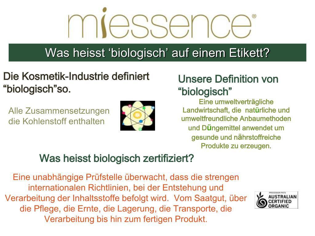 Was heisst 'biologisch' auf einem Etikett?