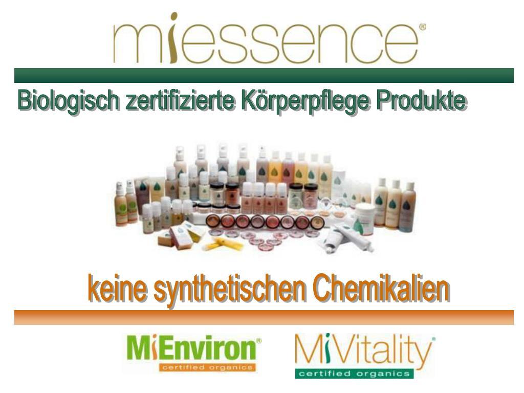 Biologisch zertifizierte Körperpflege Produkte