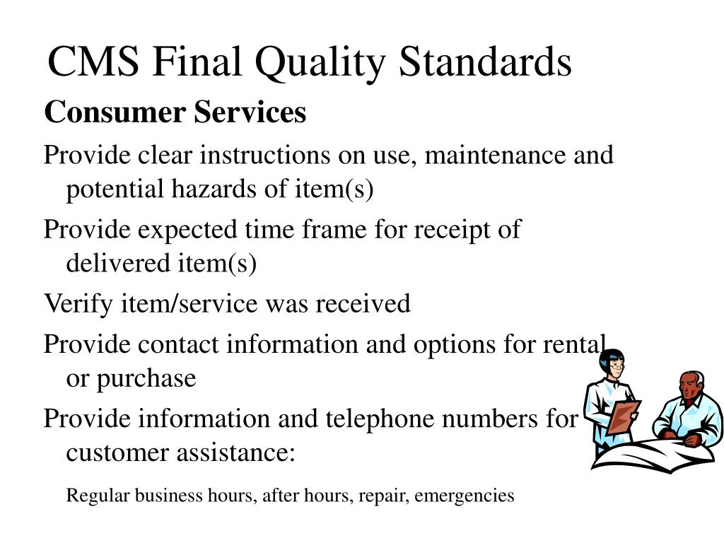 CMS Final Quality Standards