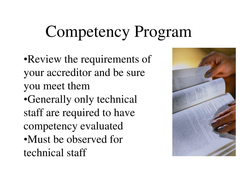 Competency Program