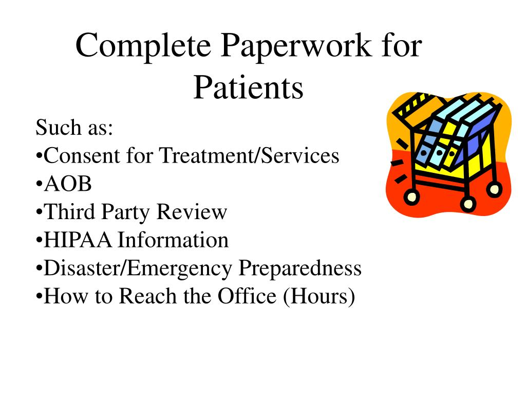 Complete Paperwork for Patients