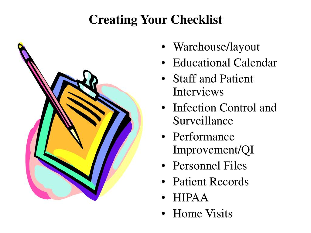 Creating Your Checklist