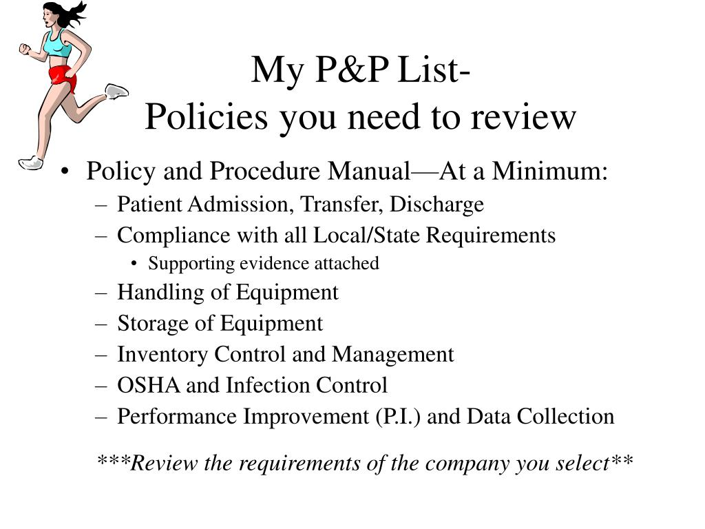 My P&P List-