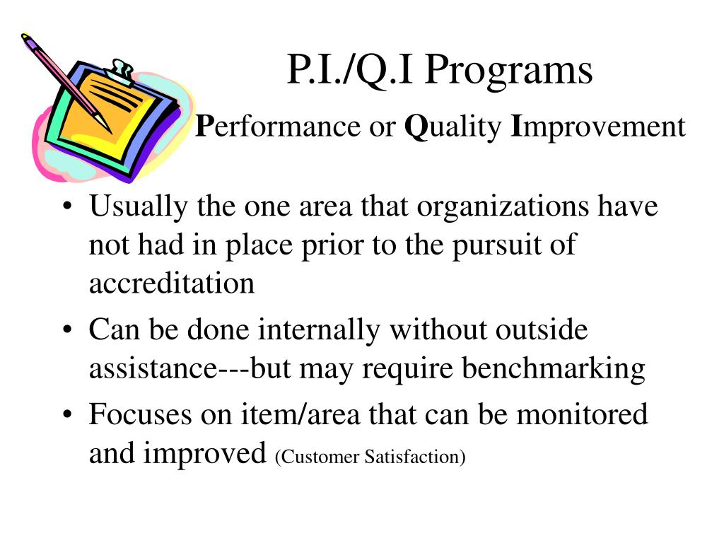 P.I./Q.I Programs