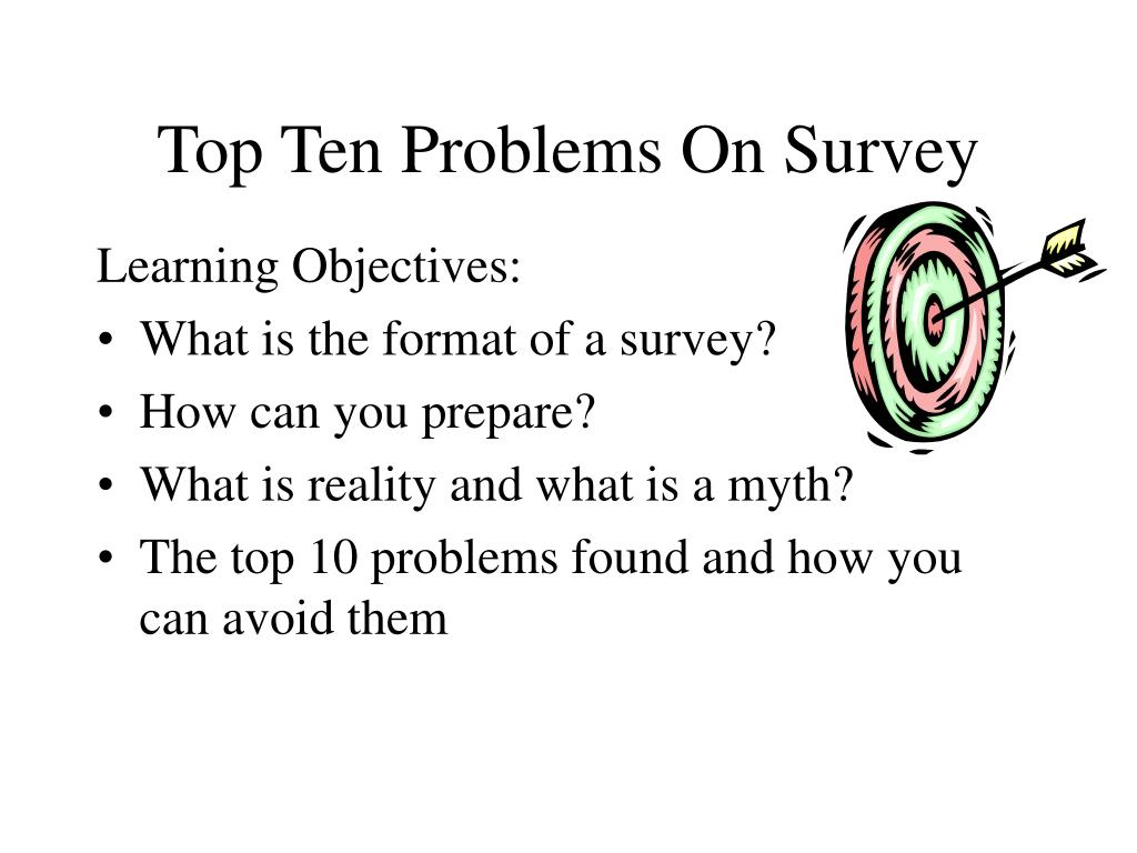 Top Ten Problems On Survey