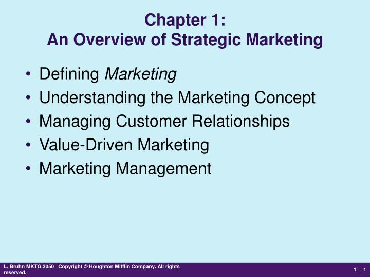 an overview of the three definitions of marketing