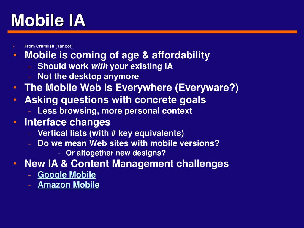 Mobile IA