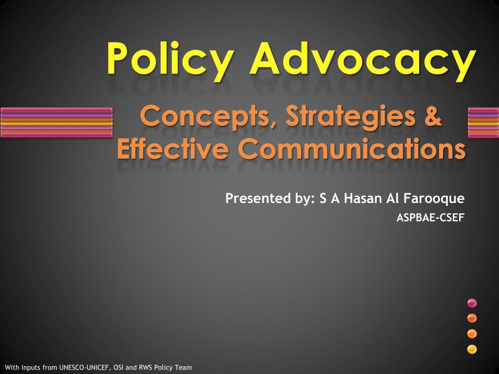 policy advocacy concepts strategies effective communications