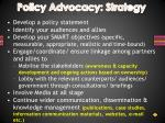 policy advocacy strategy