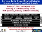 governor davis created new institutes for science innovation and tech transfer1