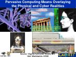 pervasive computing means overlaying the physical and cyber realities