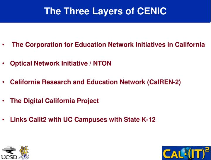 The Three Layers of CENIC
