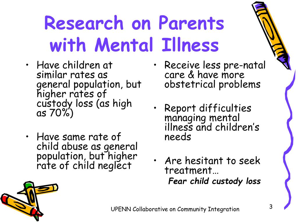 the issues of parents of children with mental disorders Recognizing signs of mental illness in a child with mental problems that are used to treat children with mental illness how parents can support.