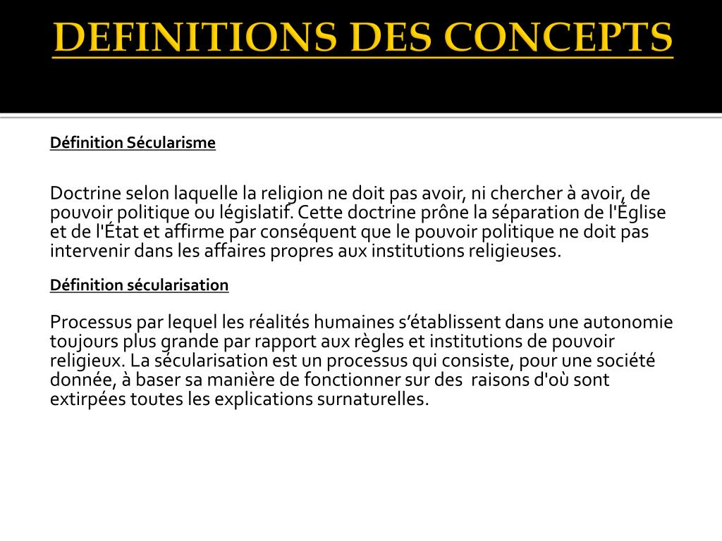 DEFINITIONS DES CONCEPTS