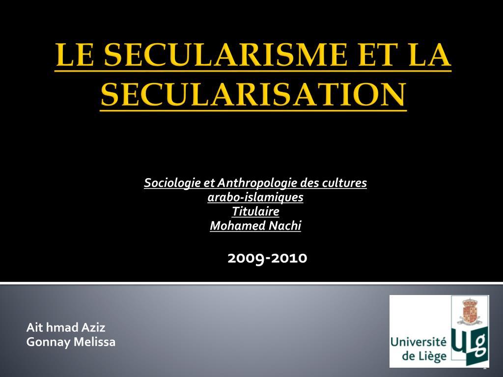 Sociologie et Anthropologie des cultures