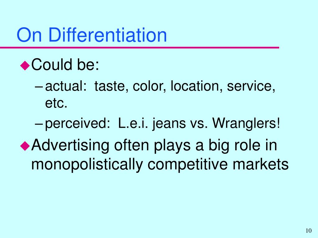 On Differentiation
