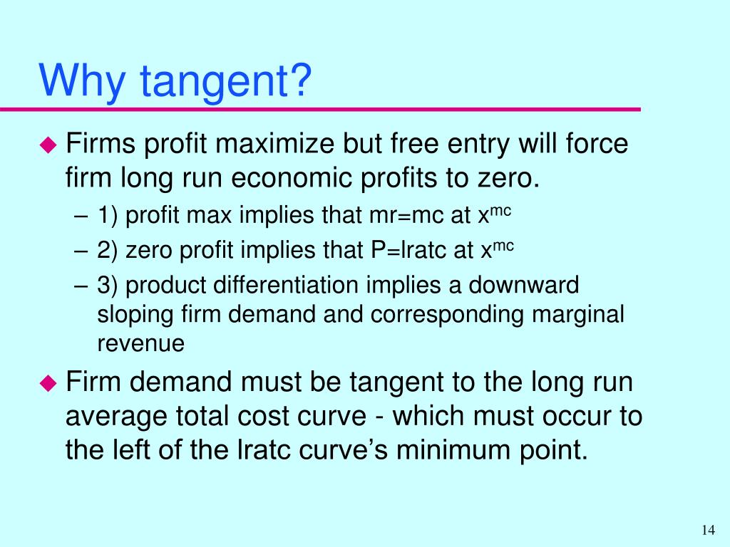 Why tangent?